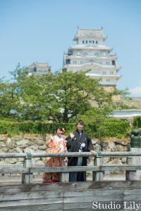 姫路城と和装フォト