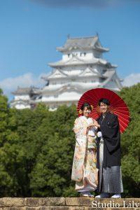 姫路城と和装前撮り