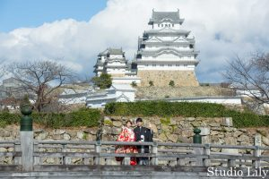 姫路城で和装ロケーションフォト