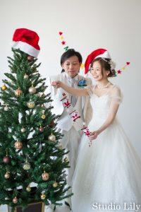クリスマス洋装撮影